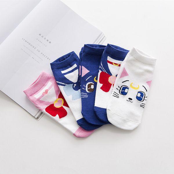 de 1 Para Anime Sailor Moon Frühling Herbst Frau Mädchen Boot Socken