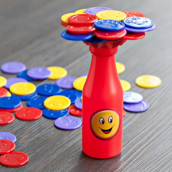 Children's Bottle Jenga Parent-child interactive table games toys baby balance force to improve concentration training educational toys