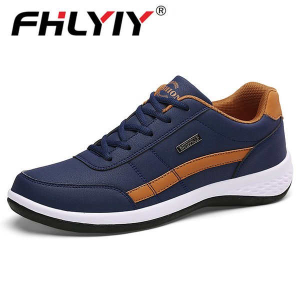 Fashion Men Sneakers for Men Casual Shoes Breathable Lace up Mens Casual Shoes Spring 2019 Leather Shoes Men chaussure homme T190924
