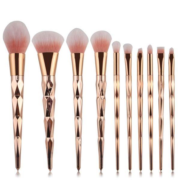 Set Of Brushes And Makeup Kit Rose Gold Lip Make-up Tools 2019