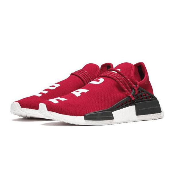red Human Race Hu trail pharrell williams men running shoes Nerd black cream mens trainer women designer sports runner sneaker
