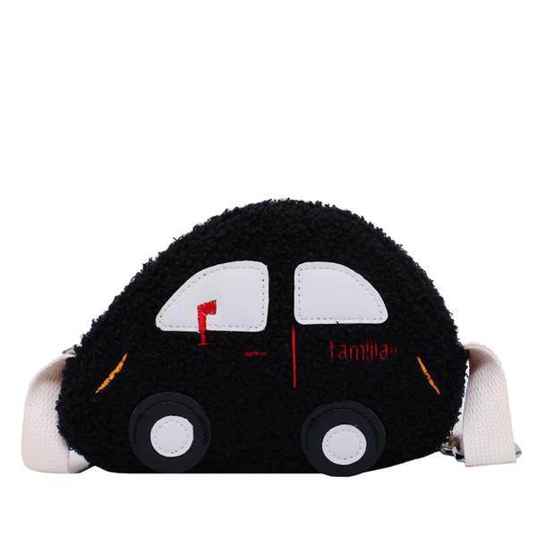 2019 nueva personalidad del diseñador de los niños bolsa de la calle Cruz-Cuerpo mini coche bolsa de felpa de mujeres linda de un hombro Niños Monedero