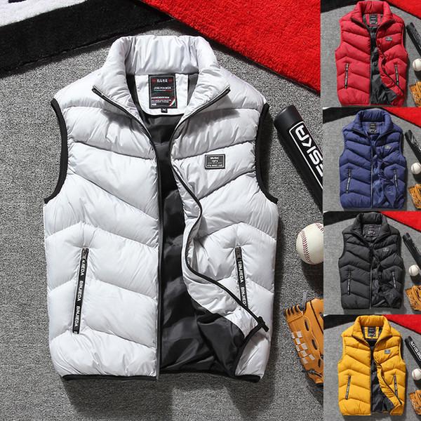 2018 Winter Warm Mens Gilet Cappotti Gilet senza maniche Gilet Gilet Plus Size L-4XL
