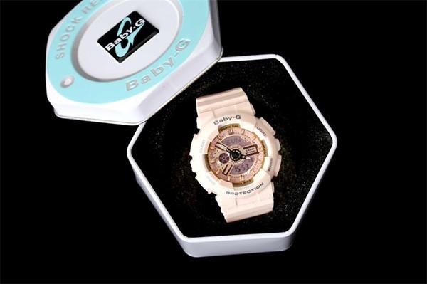 Armbanduhrbabyuhr der Marke 3A hochwertige weibliche Armbanduhr alle Funktionen Sportuhr mit Kasten mit manual 1pcs Dropshipping
