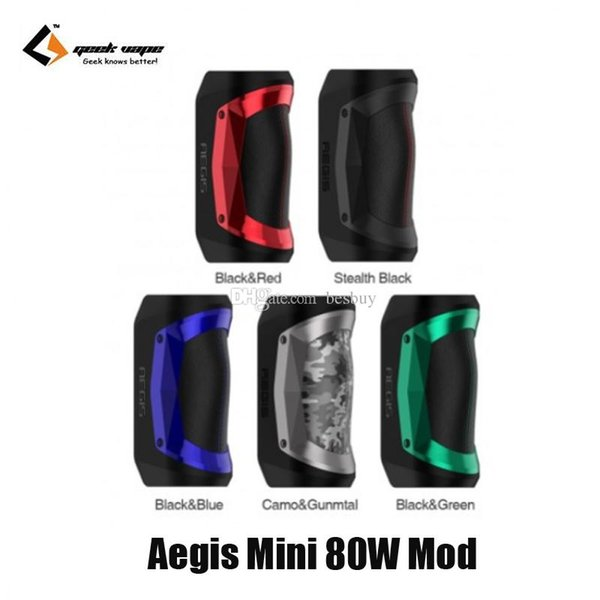 Authentic Geekvape Aegis Mini 80W TC Box Mod 2200mAh Battery E-Cigarette Vape Mods For Original Cerberus Sub-ohm Tank 100% Genuine