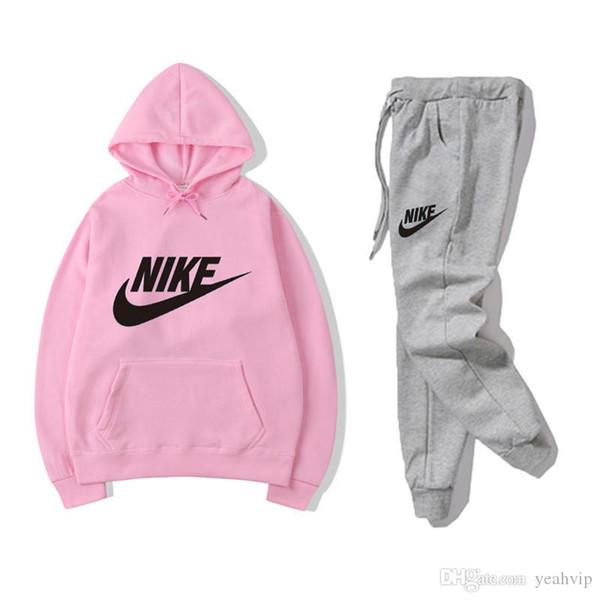 2019 Hot Sale X0NIKE Men Active Set Tracksuits Hoodies Sweatshirt +Pant Sport Track Suits Jogging Sets Survetement Femme Clothes CX From Isoa, $26.39