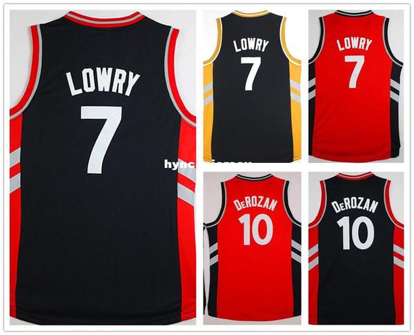 barato # 10 dd jersey costurado retro Retro basquete jerseys # 7 lowry jersey top qualidade tamanho S-XXL Ncaa