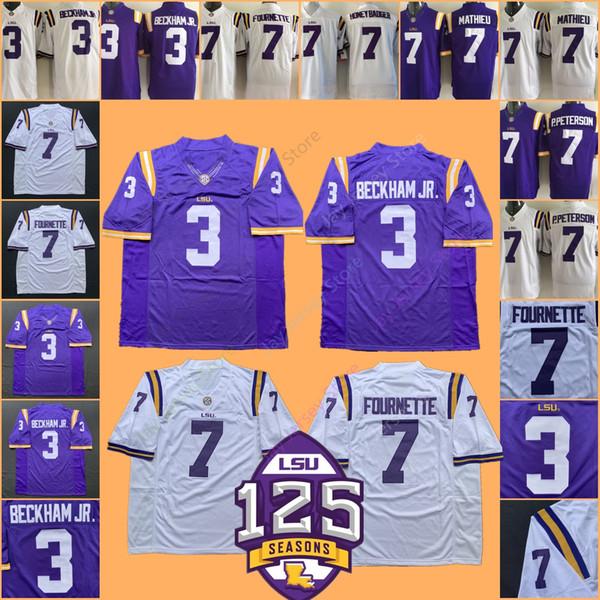 College NCAA LSU Tigers Football Jersey Odell Beckham Jr HONEY BADGER Leonard Fournette Patrick Peterson Tyrann Mathieu