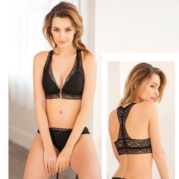 cb9839664b1 2019 Sexy Mousse Plus Size Fashion Ladies Bra Panty Set Wireless ...
