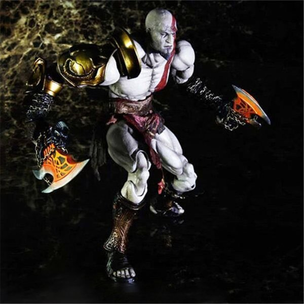 Play Arts Kratos God of War III Anime Figure Action Figures Valentine's Day Gifts Toys Birthdays Gifts Doll Hot Sale Free Shipping