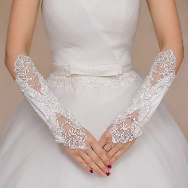 nuovo di zecca grande sconto rivenditore all'ingrosso Acquista Guanti Da Sposa Senza Dita Da Donna Elegante Medio ...
