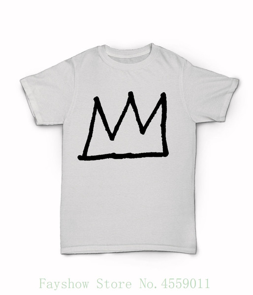 Camiseta Jean Michel Basquiat Crown - Camiseta de arte de los años 80 de la ciudad de Nueva York - Legend 100% Cotton Print Mens Summer O-neck