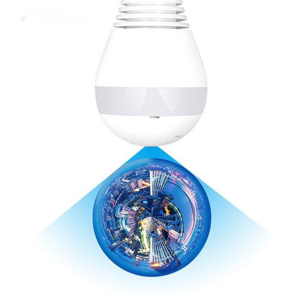 ip wifi mini caméra de surveillance de la sécurité cctv bébé maison avec fonction ampoule LED caméra sans fil 360 degrés