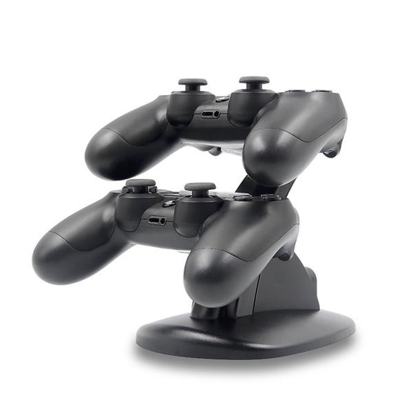 2 LED dual del muelle del cargador USB Monte soporte de carga para PlayStation 4 controlador de juegos inalámbrico PS4 con Box