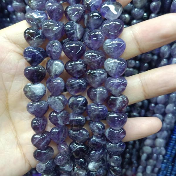 1 Strang Amethyst Perlen 10mm zur Schmuckherstellung