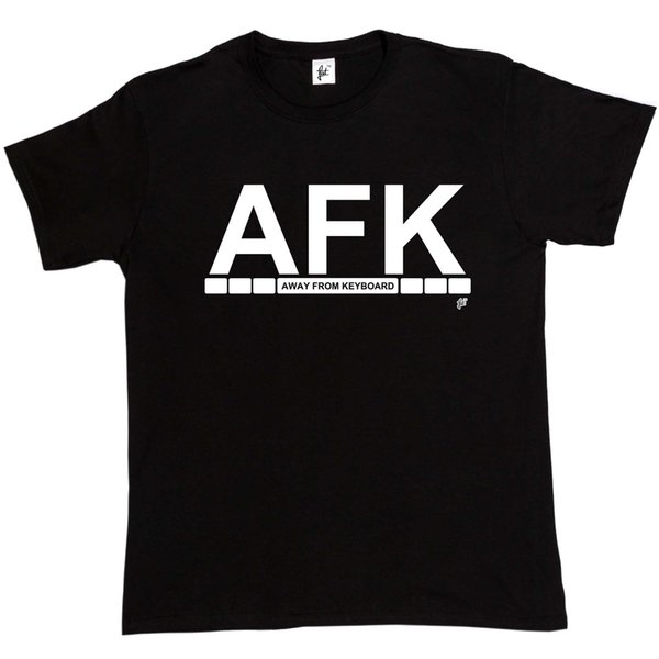 AFK Away From Keyboard Mens T-Shirt hoodie hip hop t-shirt jacket croatia leather tshirt