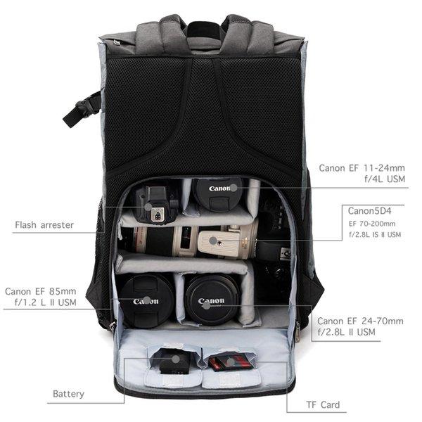 Gepäck Taschen Rucksäcke BAGSMART Männer Multifunktionskamera Rucksack DSLR Tasche für 15,6 Laptops Wasserdichter Regenschutz für Canon ...