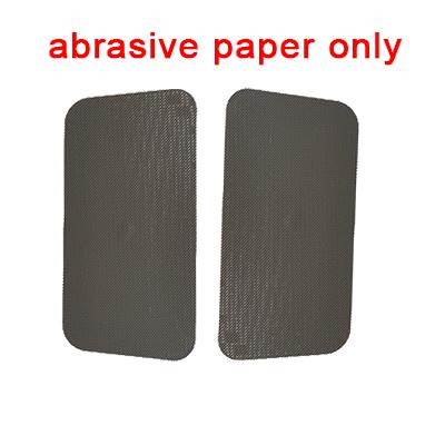 abrasive paper only