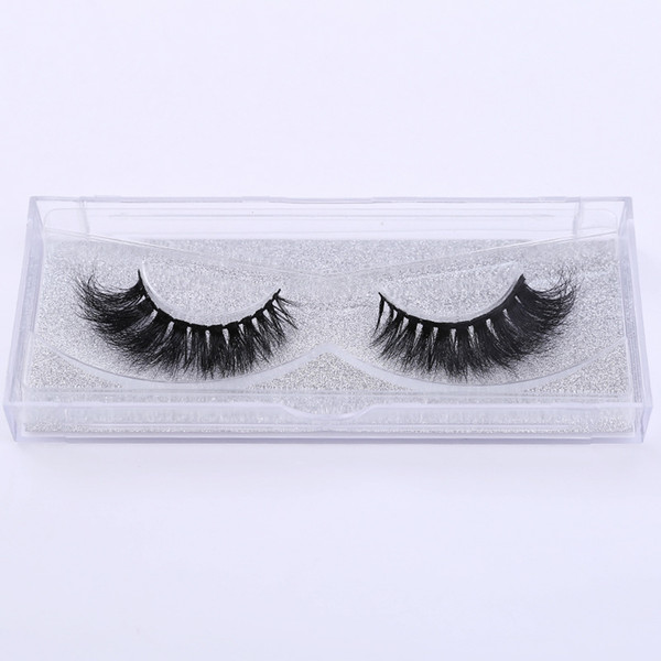 3D mink false eyelashes natural curling hot sale end elongate long Eyelashes cross border explosion Free shipping