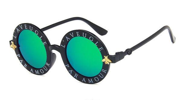 Kids Bee Sunglasses Retro Round Classic Letters Anti-UV Eyewear Glasses Baby Children Sunblock