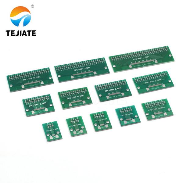 1 adet Çift Yan 0.5mm 1mm FFC FPC 6 8 10 12 20 20 30 40 50 60 Pin 2.54mm FPC / FFC SMT Adaptörü Soket Plaka PCB Kurulu bağlayıcı