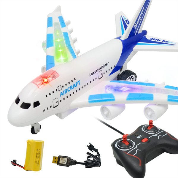 Four-way Electric Remote Control Aircraft Simulation Airliner Boeing 747 Airbus Civil Aviation Toy Model