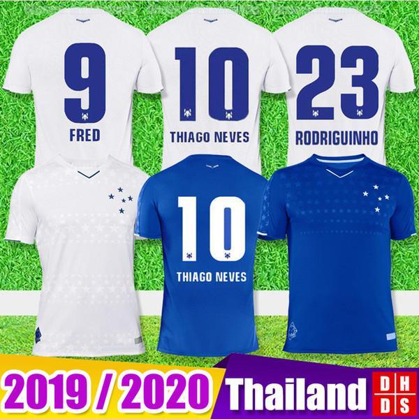 2019 CRUZEIRO Camisola de Futebol 19 20 Brasil DE ARRASCAETA FRED ROBINHO THIAGO NEVES camisa de futebol Cruzeiro de origem Brasil clube Aduit man kids Cam