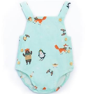 #4 Suspender Baby Rompers