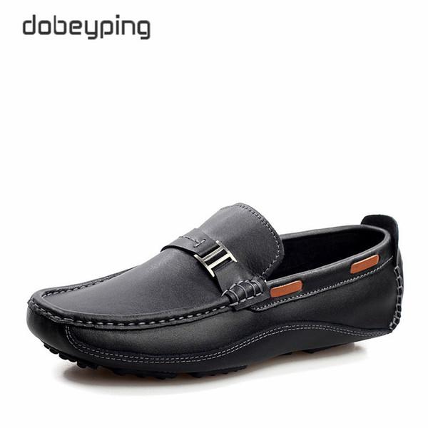 Nouveau Style Hommes Mocassins Haute Qualité Vache En Cuir Homme Chaussures De Conduite Mocassins Occasionnels Homme Flats Slip On Shoe Men Plus La Taille 38-47