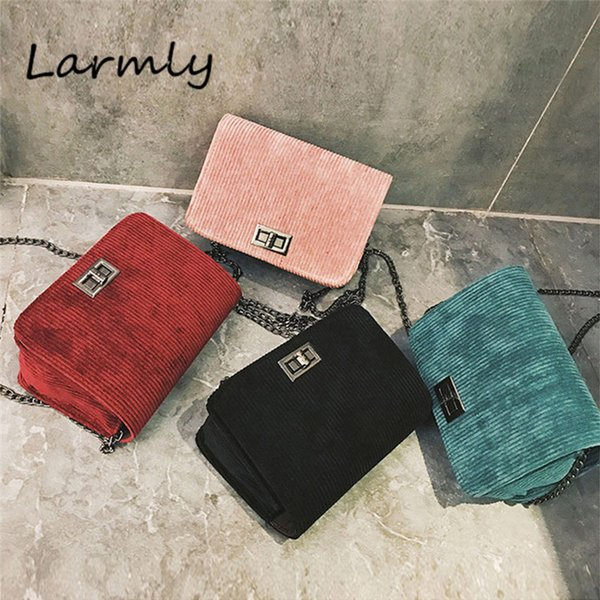 Women's Messenger Bags Crossbody Shoulder Bags Wool Hasp Handbag Bolsas Feminina Casual Leather Clutch Chains Versatile @P