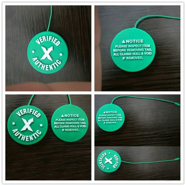 Wholesale Stock X Tag Green Circular Tag Plastic Verified Authentic Shoe Buckle Zip Tie For Brand Sports Shoes