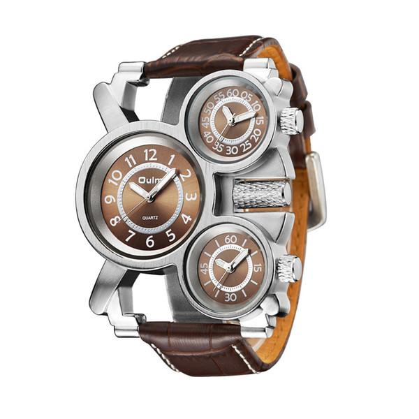 Reloj de cuarzo reloj de los hombres de la brújula tres diales envío gratis novedad de moda retro clásico reloj de alta calidad