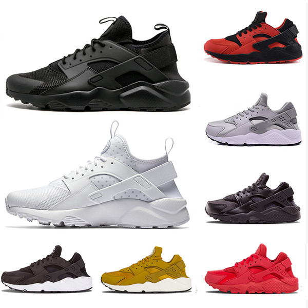 2019 Hot Men Air Huarache Sport Shoes Sneakers Athletic Shoes white red SIZE