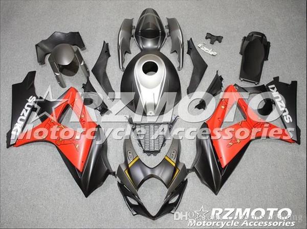 3 regali Nuova Carena per SUZUKI GSX-R1000 K7 07 08 GSX R1000 GSXR 1000 GSXR-1000 K7 07-08 GSXR1000 2007 2008 Carrozzeria nero Rosso C2