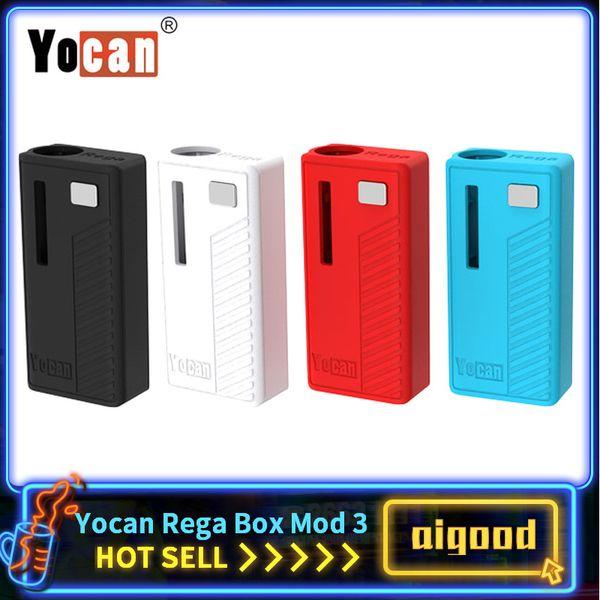 Оригинал Yocan Rega Box Mod 320 мАч Разогрев VV Батарея С Магнитным Адаптером Испарителем Для 510 Толстого Масла Vape Картридж 100% Подлинный