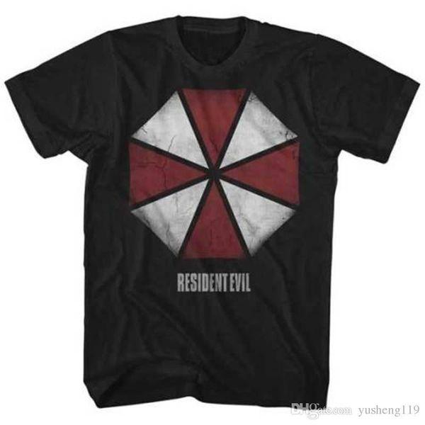Summer T Shirt Tops Tees New Men'S Resident Evil Umbrella Short Printing O-Neck Shirt