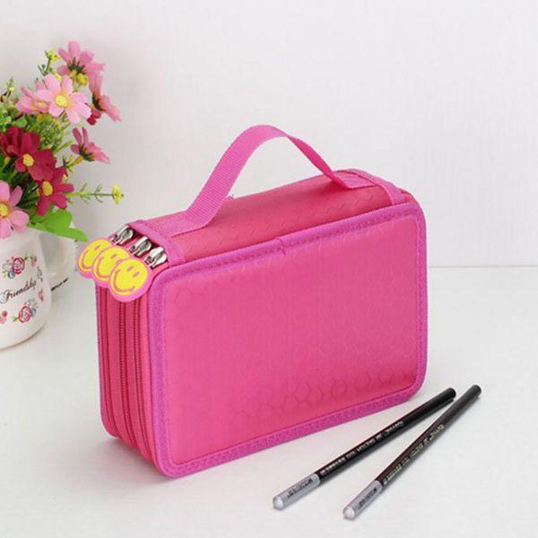 48 Color 52 Hole Gray Multi-function Stationery Bag 24 36 48 72 Stick Pencil Curtain Sketch Color Pencil Bag Large Case