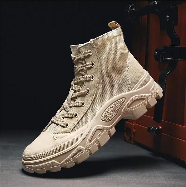 2019 Hot Hommes pour Femmes Triple noir kaki luxe cheville bottes d'hiver concepteur chaud bottes Martin taille eur 36-43