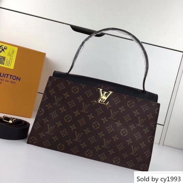 M43428 Lady Handbag Black Hobo Handbags Top Handles Boston Cross Body Messenger Shoulder Bags