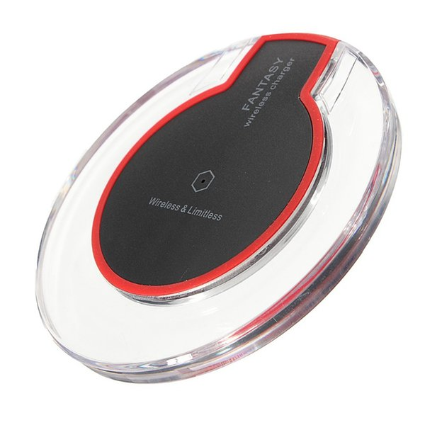 Crystal Fantasy Qi Wireless Charger For iPhoneX87Plus Charging Pad Mini Micro USB Plug for Samsung S6S7Edge S8S9Plus Note9 With package