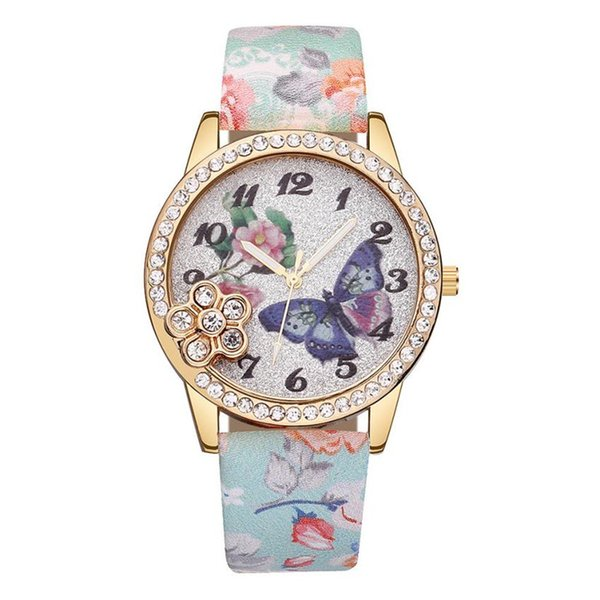 Womens Watch Leather Band Quartz Wrist Watch relogio masculino feminino Gift Fashion Butterfly Girls Ladies Bracelet Watches