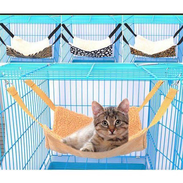 Bajo silla colgante del gato del gatito Hamaca Cama lana forrada pata de la mesa gato Mats oscilación