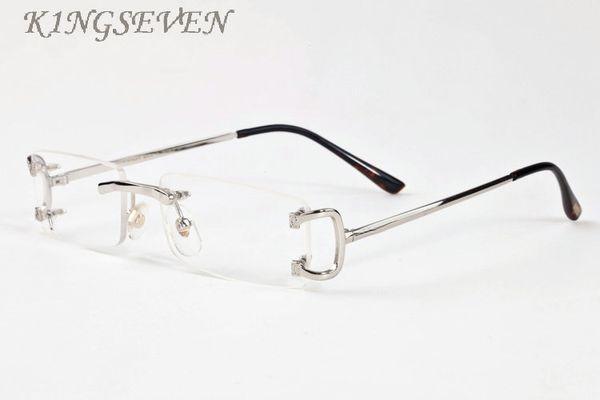 Luxury- Rimless Sunglasses Women Brand Designer Retro Buffalo Sunglasses Classic Female Gradient Sun glass Men Vintage Sun Glasses