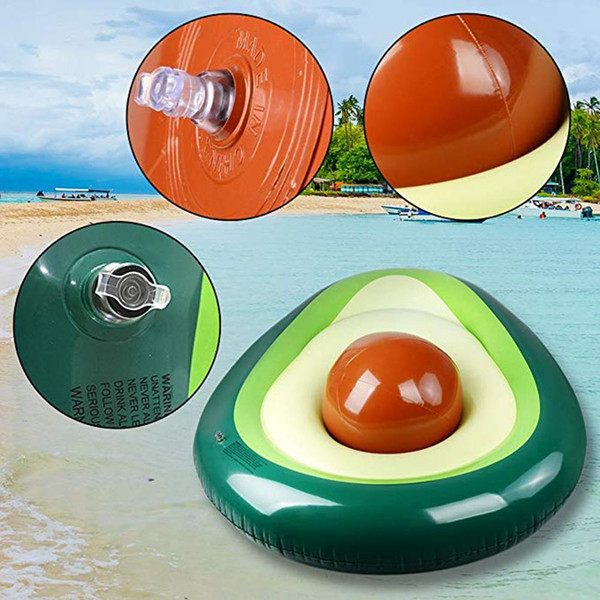 top popular Inflatable Avocado Swimming Ring Pool Float Summer Beach Swimming Float Ball Beach Toy For Kids Adults 2019