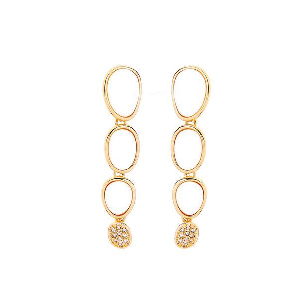 Slanw geometric shell set with crystal ear drop earrings female European and American fashion beach holiday wind earring one hair ed01969d