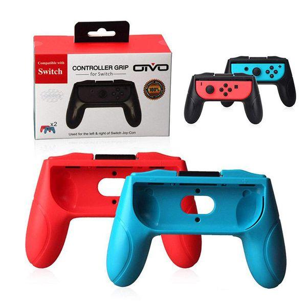 Poignées pour Nintendo Switch Joy Con Controller Jeu de 2 poignées confortables Poignées Kits Support de support pour support Shell