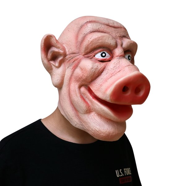 Top Grade MostaShow Pig Demon Mask Latex Animal Full Headgear Easter Mask,Halloween Party Cosplay Masquerade Masks Pig Head Funny Mask