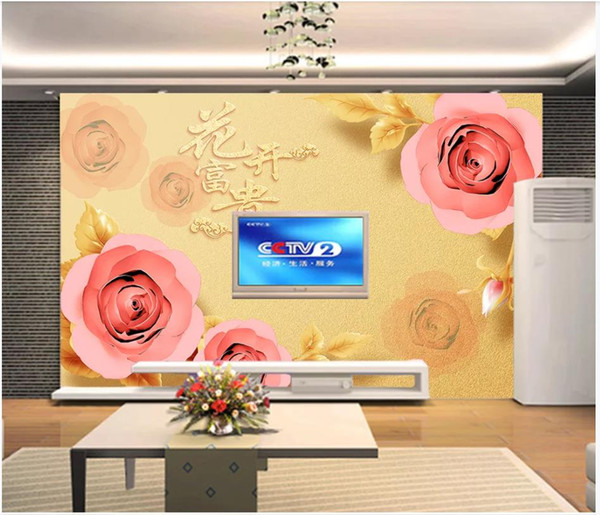 Custom Photo Wallpaper For Walls 3D mural wallpapers Modern stylish rose flower living room mural TV background wall papers home decor