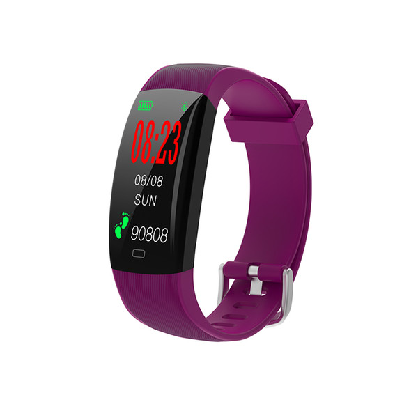 2018 New F64C smart watch IP68 waterproof heart rate clock reminder swimming watch for men and women sport bracelet PK ID115 mi band2