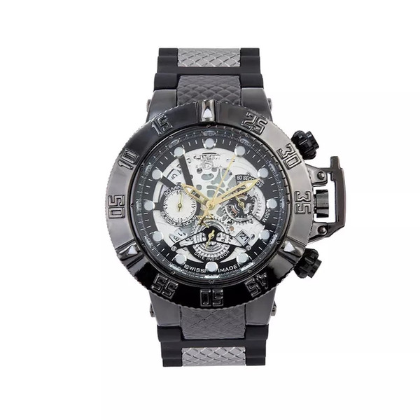 INVICTAS DZ7333 Sports Quartz Relógio Masculino Todos os recursos podem ser operados 52 MM grande rotativa calendário dial Frete Grátis